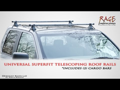 Universal Fit Telescoping Roof Rails Youtube