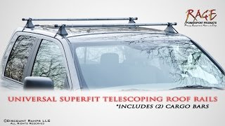 Universal Fit Telescoping Roof Rails