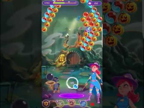 Bubble Witch 3 Saga Level 228 (New Level Design 2.17.17) ~ 3 stars ~ No Boosters
