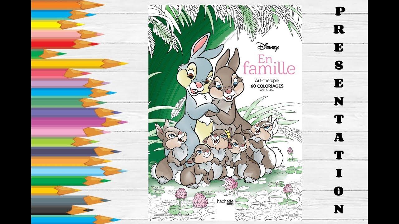 Coloriage Anniversaire Famille.Disney En Famille Hachette Coloriage Adulte