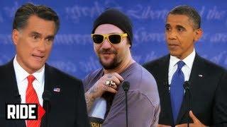 Video Presidential Debate 2012 - Barack Obama, Mitt Romney, and Bam Margera? WTF?! download MP3, 3GP, MP4, WEBM, AVI, FLV Juli 2018