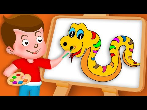 Drawing Snake Paint And Colouring For Kids | Kids Drawing TV