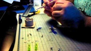 Timelapse building tiny X-Wing Papercraft