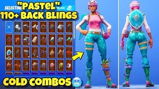 "NEW ""PASTEL"" SKIN Showcased With 110+ BACK BLINGS! Fortnite Battle Royale (BEST PASTEL SKIN COMBOS)"