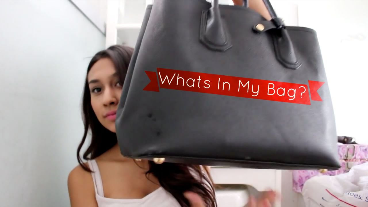 Whats in my bag cistina rose youtube