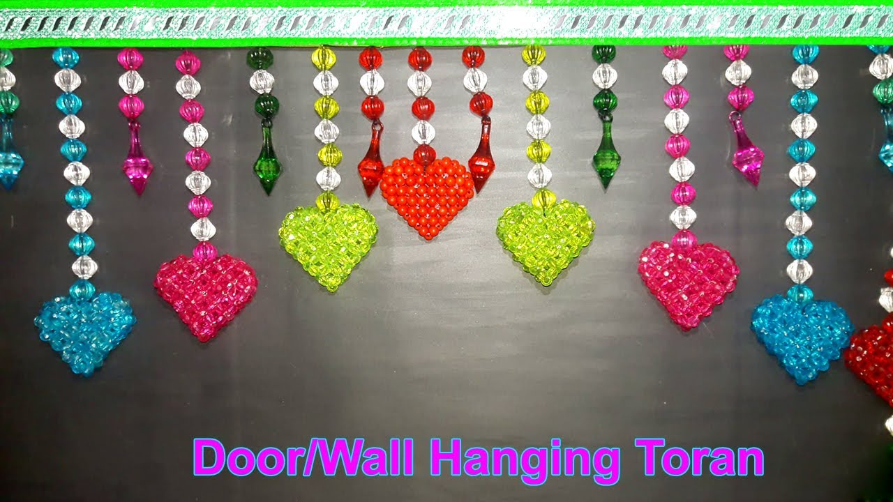 Charmant How To Make Door Hanging Toran With Beads