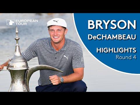 Bryson DeChambeau Winning Highlights | 2019 Omega Dubai Desert Classic