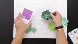 Cricut® Flower Market Collection: DIY Paper Succulent Terrarium