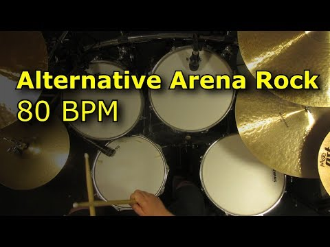 Alternative Arena Rock Drum Beat 80 BPM