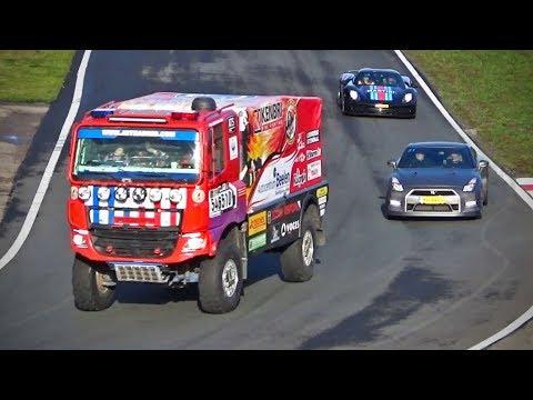 Racing a 15,000+lbs Dakar Truck on a Race Track !