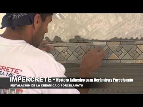 Impercrete adhesivo para piso ceramico porcelanato for Pisos ceramicos