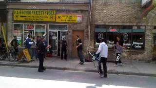 London Ontario Police officer taser youth in the face