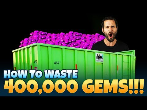How To Waste 400,000 Gems WITHOUT Getting What U Want! Castle Clash