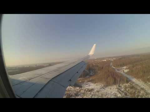 Посадка самолёта NordStar Красноярск-Москва в Домодедово