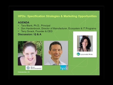 Health Product Declarations: Specification Strategies and Marketing Opportunities
