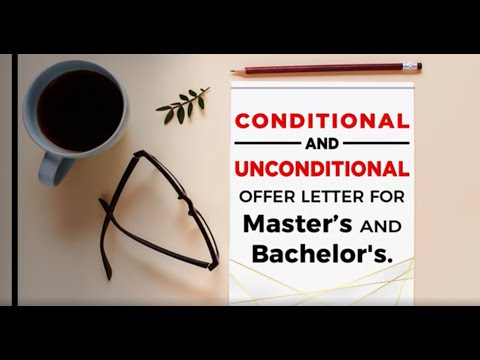 Conditional and Unconditional Offer Letter For Bachelors & Masters in Germany