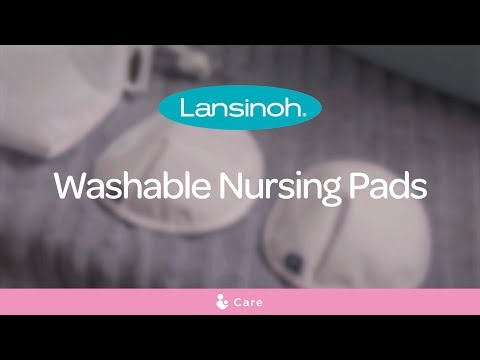 Lansinoh Washable, Reusable Nursing Breast Pads For Breastfeeding Mums