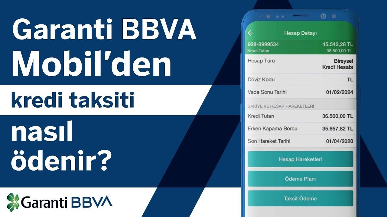 Garanti BBVA Mobil'den Kredi Taksiti Nasıl Ödenir?