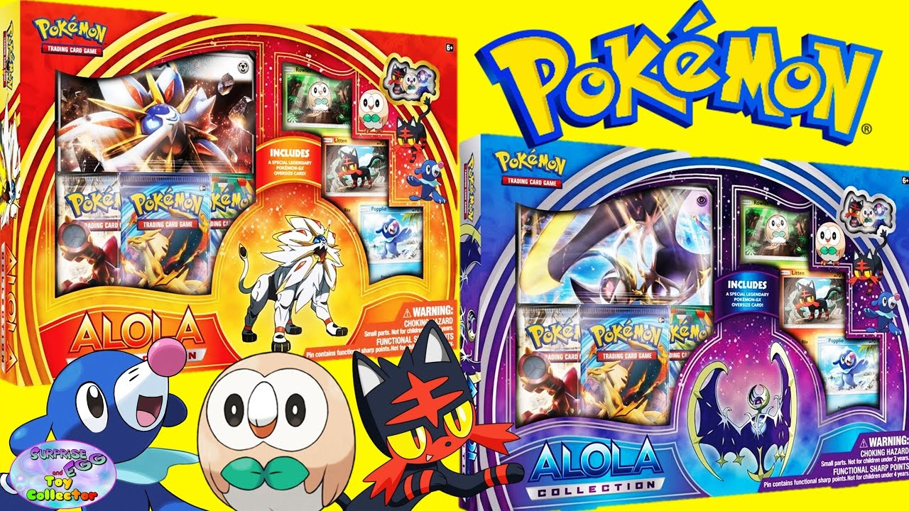 Pokemon Alola TCG Box Sets Solgaleo Lunala Sun Moon Surprise Egg And Toy Collector SETC