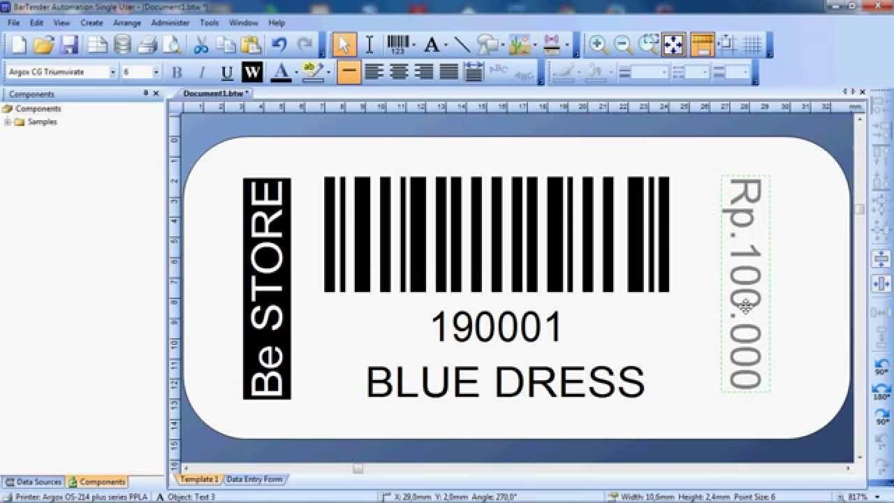 Cara Mudah Desain Barcode Dengan Bartender Software How To Design Barcode With Bartender 10 Youtube