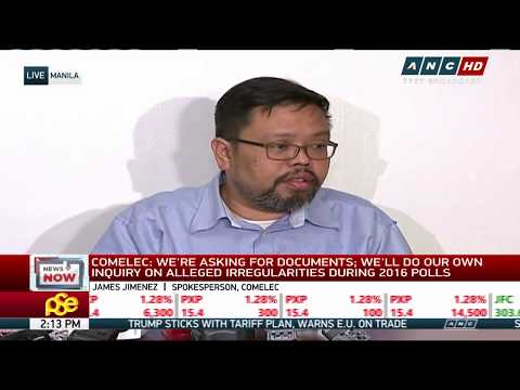 WATCH:  Comelec answers questions on alleged 2016 poll fraud | 7 March 2018