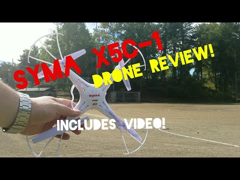 Syma X5C-1 drone/quadcopter review... includes sample video footage