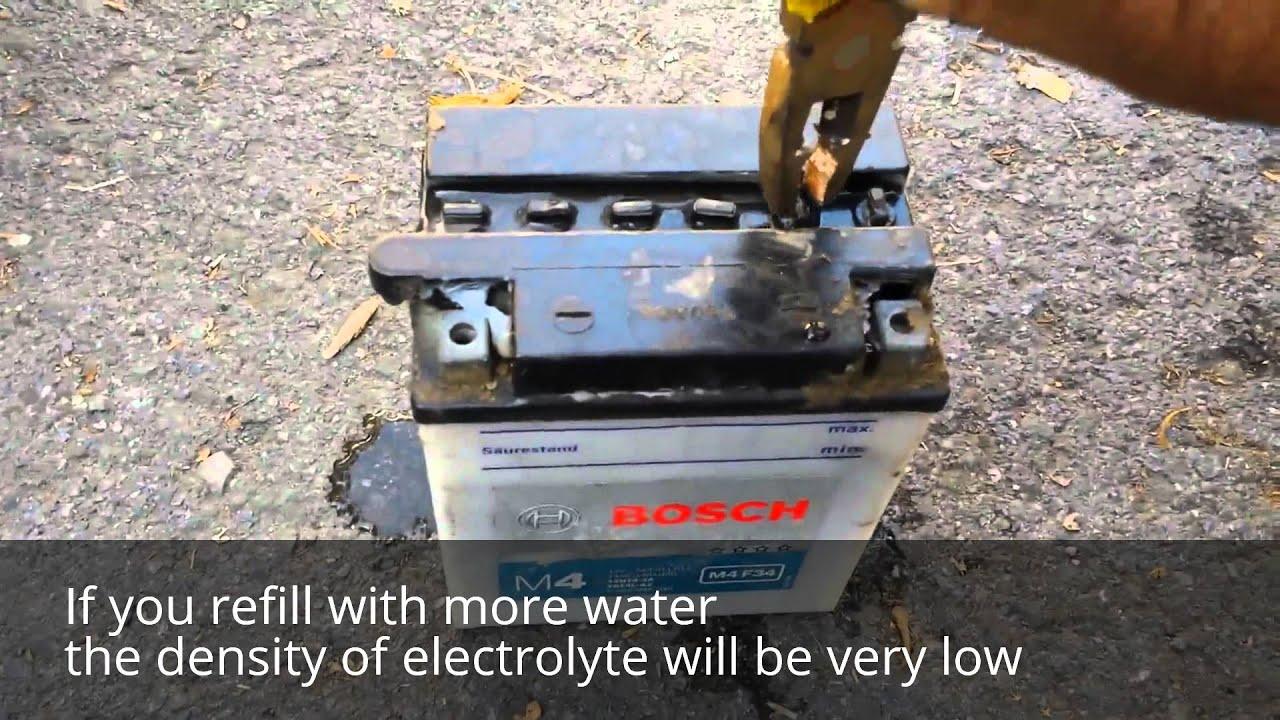 Car Battery Fill Distilled Water