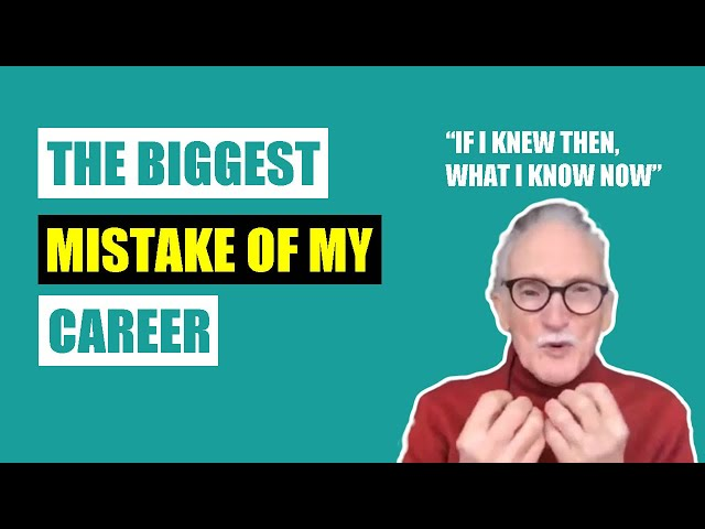 The Biggest Mistake of My Career