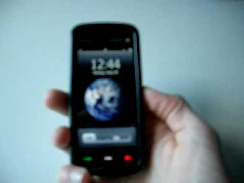 Nokia 5800 with Iphone theme and Slide Unlocker