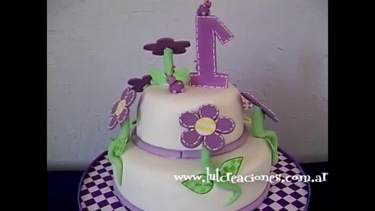 Torta Decorada Flores en Lilas - Lut Creaciones Tortas Decoradas ...