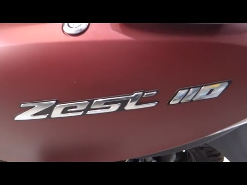 2018 TVS SCOOTY ZEST 110 new colour mat red