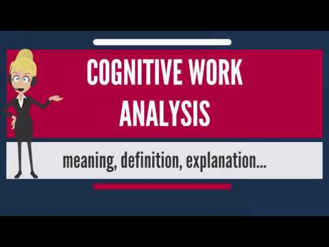 What is COGNITIVE WORK ANALYSIS? What does COGNITIVE WORK ANALYSIS mean?