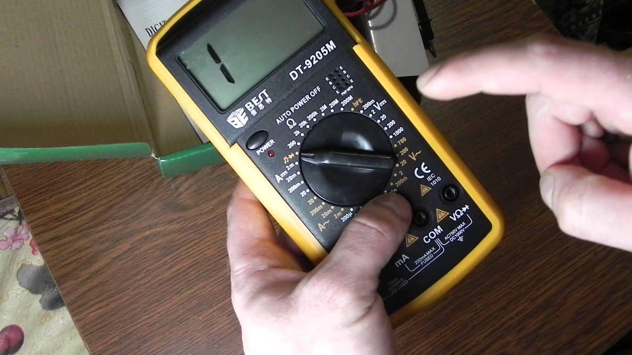 Мультиметр RICHMETERS RM 102 - YouTube