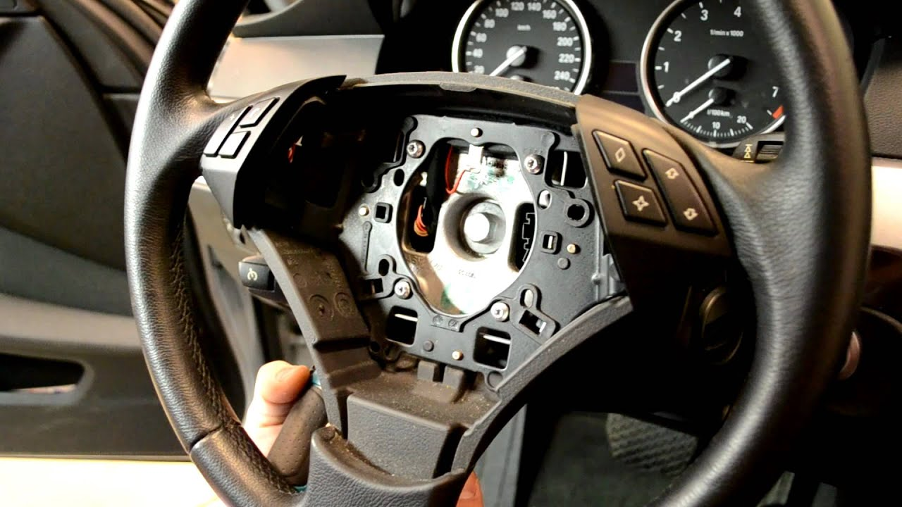 bmw e60 steering wheel airbag removal 5 series youtube. Black Bedroom Furniture Sets. Home Design Ideas