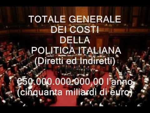 I privilegi dei politici italiani e io pago wmv youtube for Lista politici italiani