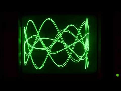 Video Experiment 0x04 – Lissajous patterns/oscillographics