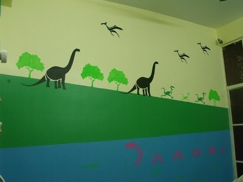 How to Apply Asian Paints Kids Glow Theme Dinosaur (Jurassica) Video