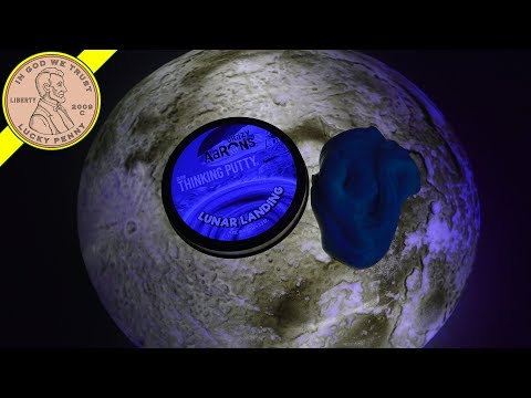 Crazy Aaron's Lunar Landing Glowing Thinking Putty