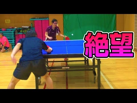 【地獄のネットイン】衝撃のペン粒VSぐっちぃ【卓球知恵袋】Table Tennis