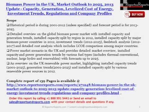 2025 UK Biomass Power Industry Outlooks, Investment Trends, Levelized Cost of Energy