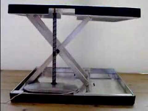 KATAKA linear actuator (prototype) in a scissor mechanism