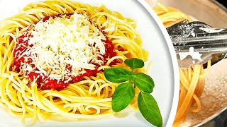 Homemade Spaghetti with Tomato Sauce Recipe
