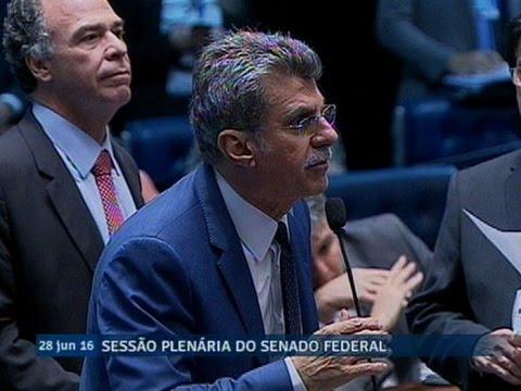 Senadores votam pela recondução de Romero Jucá à segunda Vice-Presidência do Senado