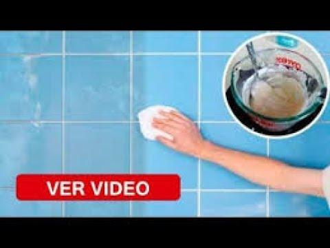 Para limpiar los azulejos del baño solo necesitas esponja y ...