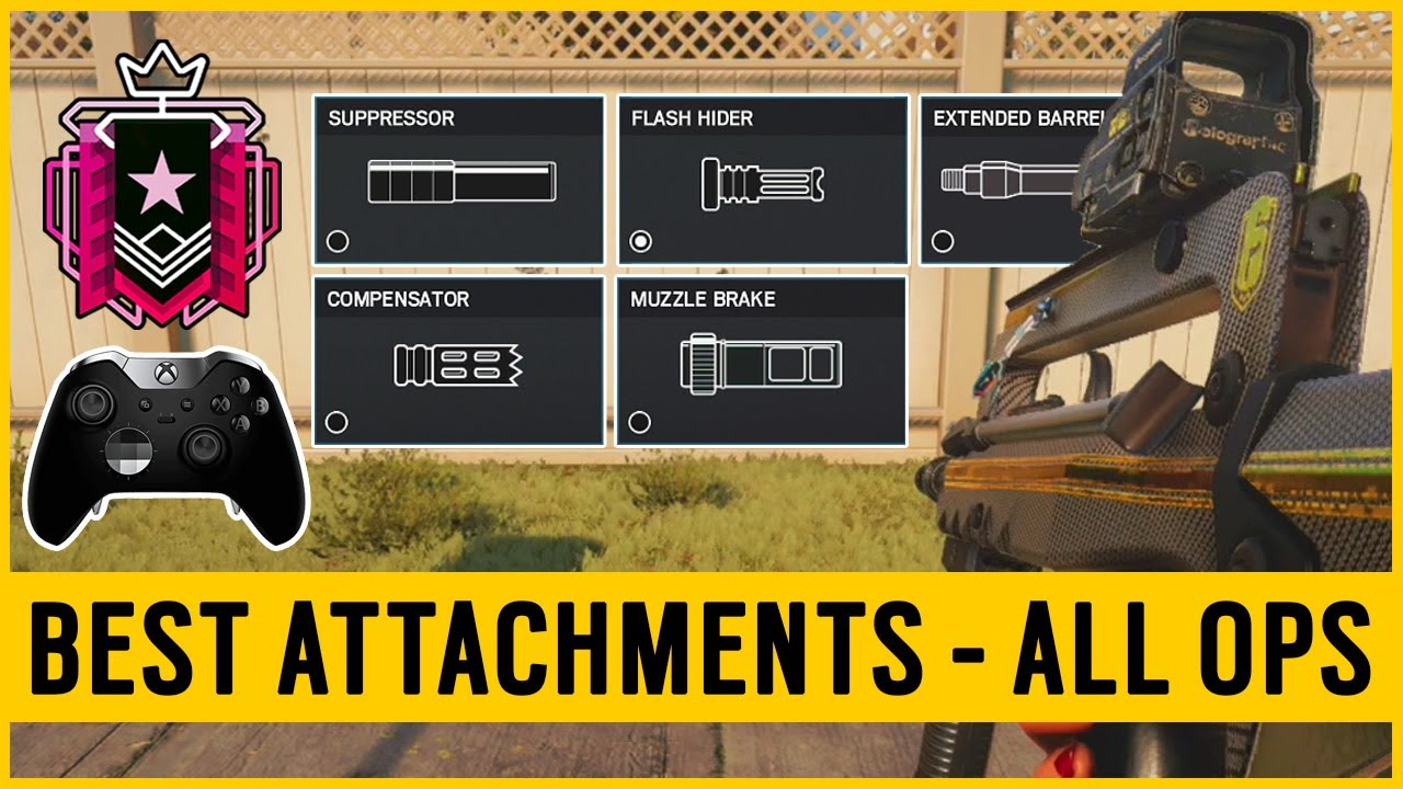 The BEST Attachments For ALL Operators on Console - Rainbow Six Siege  (Console Diamond)