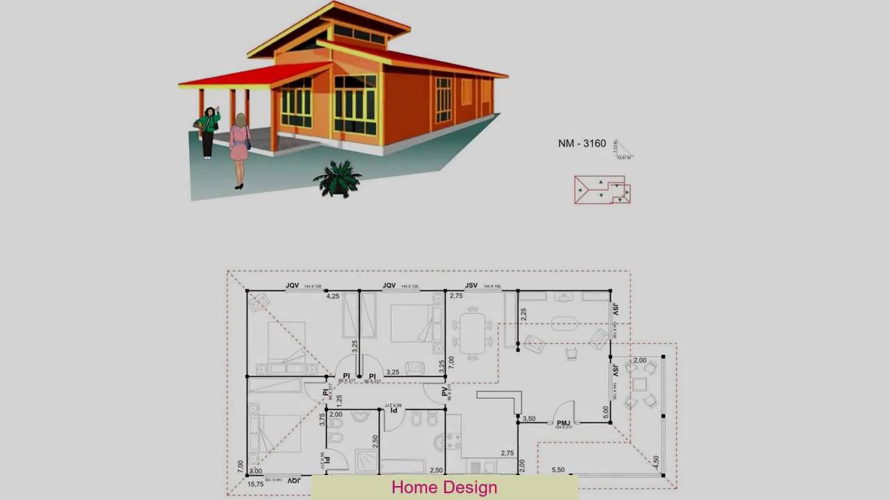 Desain Rumah Ukuran 6X12 - YouTube