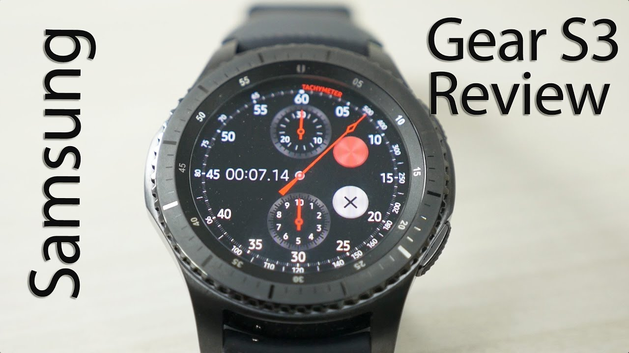 8f5a8185ce2 Samsung Gear S3 Frontier Smartwatch Review - YouTube