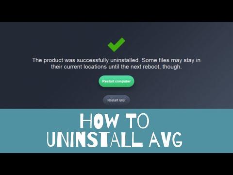 How To Completely Uninstall AVG Anti Virus 2019
