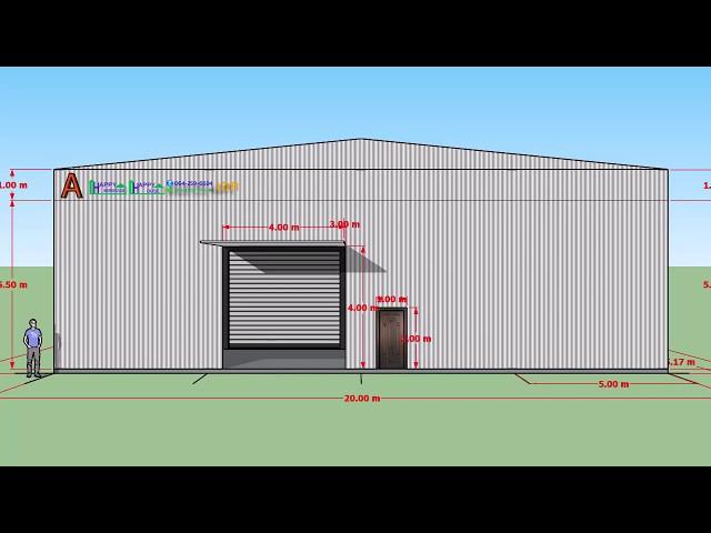 แบบโกดังฟรี Happy Warehouse แบบ HW-CT ขนาด 20x31x6.5 ประเมิน ฿1,854,883 (ไม่รวมฐานราก, งานไฟฟ้า)
