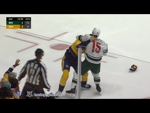 Matt Hendricks vs Zac Rinaldo Oct 15, 2018